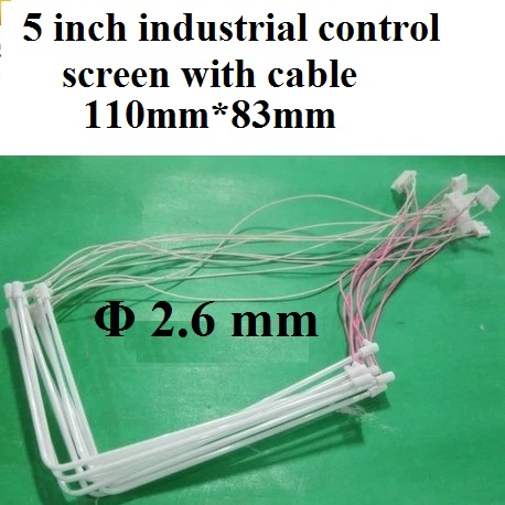 5 inch industrial control screen L Shape CCFL lamp tube with cable big mouth 110mm*83mm*2.6mm