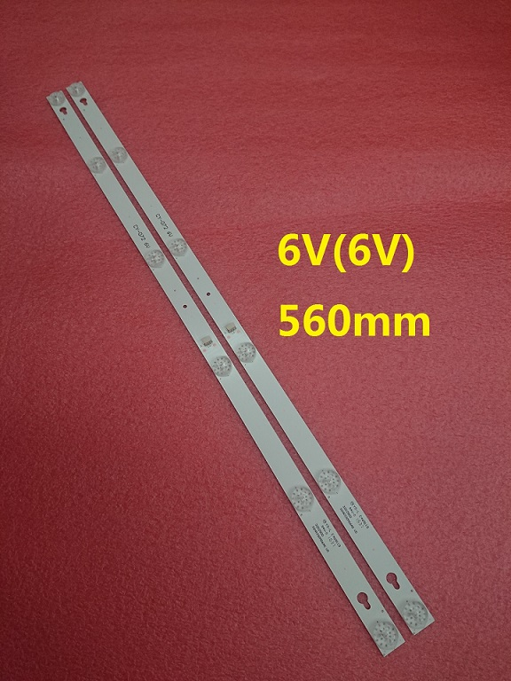 2pcs 6LED(6V) 560mm LED strip for 4C-LB3206-HR03J HR01J 32D2900 32HR330M06A5 V5