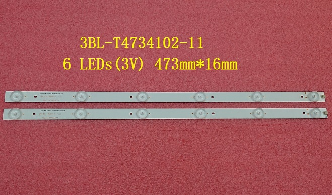 5 PCS/lot New LED strip 3BL-T4734102-11 6 LEDs(3V) 473mm*16mm