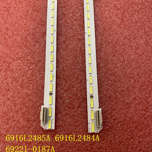 2pcs 78LED 66CM LED strip FOR LG 60UH7700 6916L2485A 6916L2484A 60 V16 ART3 2485 2484 R L type