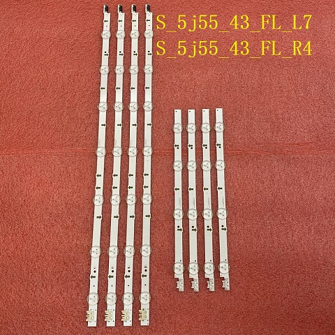 8pcs LED strip for Samsung UE43J5550 UE43J5600 ue43j5502 BN96-36336A BN96-36337A S_5j55_43_FL_L7 R4