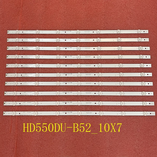 10 PCS LED strip for HISENSE_55_HD550DU-B52_10X7 H55M3000 H55M3300 55H8C