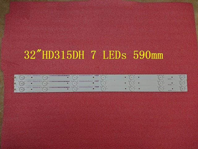 3 PCS LED strip Hisense-32-HD315DH-E81 B21 HE32NME9UX4012406497 E25784 7 LEDs 590mm
