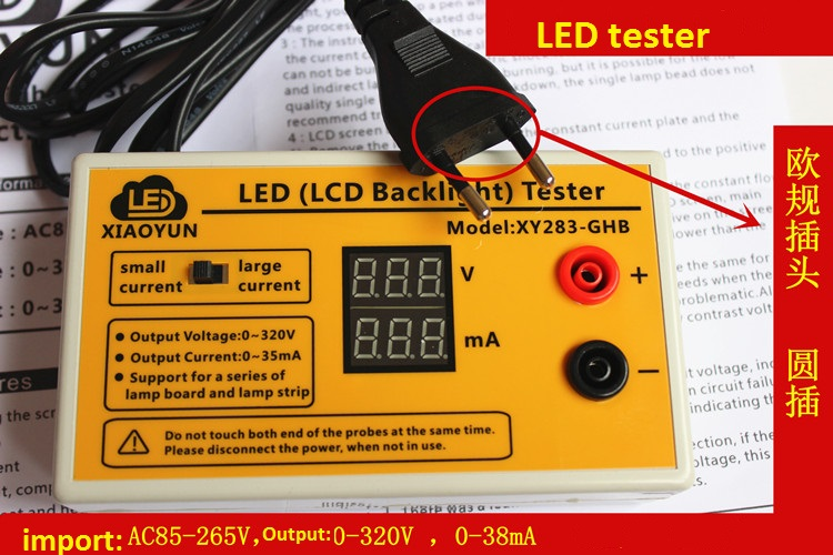 Output 0-320V LED Tester Tool Smart-Fit Voltage for All Size LED backlight