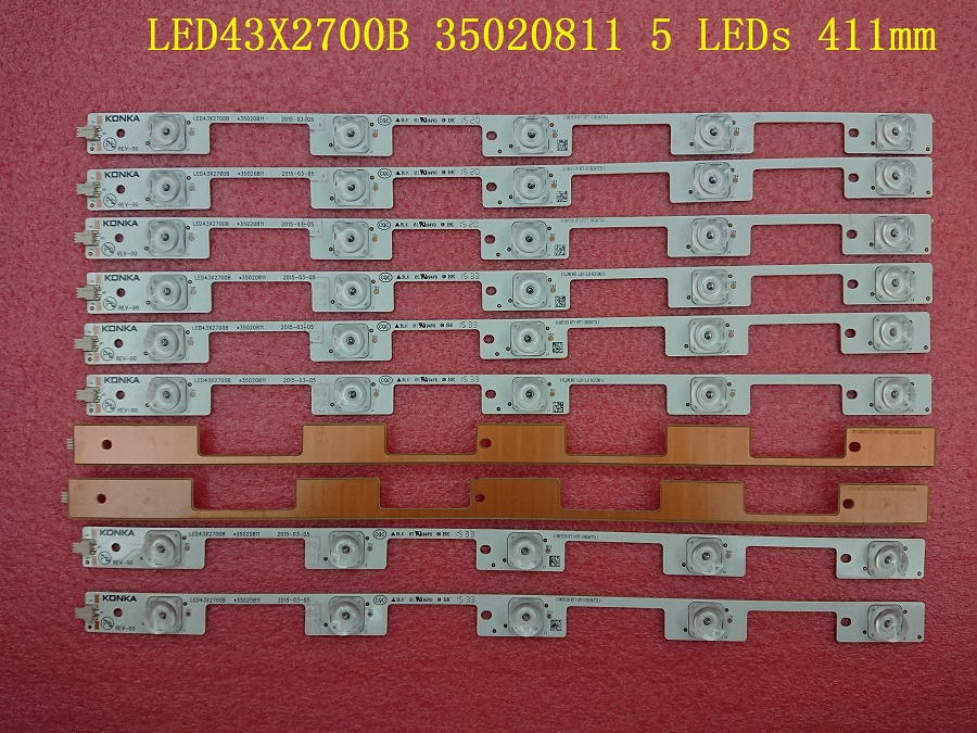 9 Pieces/lot New LED backlight bar for KONKA LED43X2700B 35020811 35020813 35021794 5 LEDs