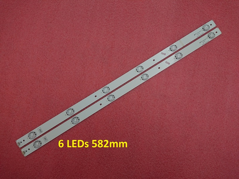 2 PCS*6 LEDs LED strip SVH550AF2_6LED_REV01_140919 for LED55k320 HD550DU-B51