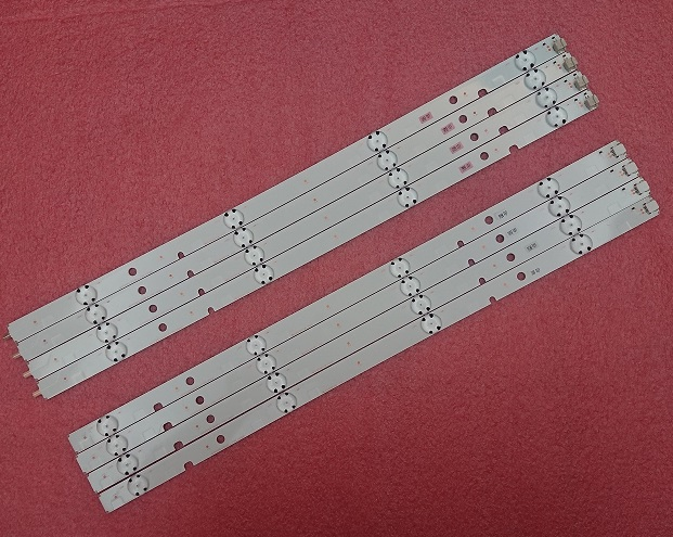 8pcs LED strip for Toshiba 47L6353DB SVT470A53_REV05_R SVT470A53_REV05_L