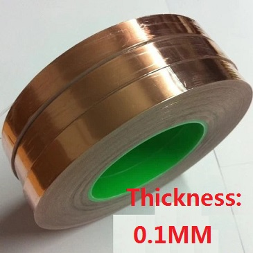 12mm*20M*0.1mm Sided conductive copper foil tape