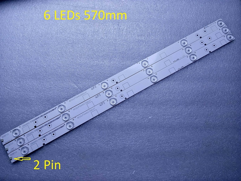 3 PCS LED32K20JD LED32K30JD 32EC110JD LED strip 1128710 HD315DH-E81 6 LEDs 570mm
