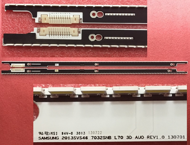 2 Pieces/lot UA46F7500BJXXR LED strip for samsung 2013SVS46 7032SNB R70 L70 3D AUO REV1.0 130701