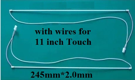 245mm(24.5cm)*2.0 CCFL lamp with cable for 11 inch Touch screen tube