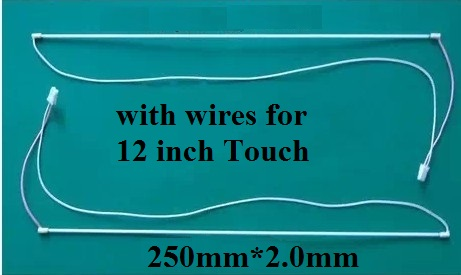 250mm(25cm)*2.0 CCFL Lamps with cable for 12 inch Touch screen tube