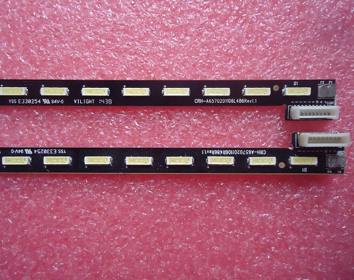 65E510E LED 1555-R6500000-01LT-20T50328A CRH-A6570201106L486Rev1.1 1 pairs=2 Pieces/lot 66LED 718MM