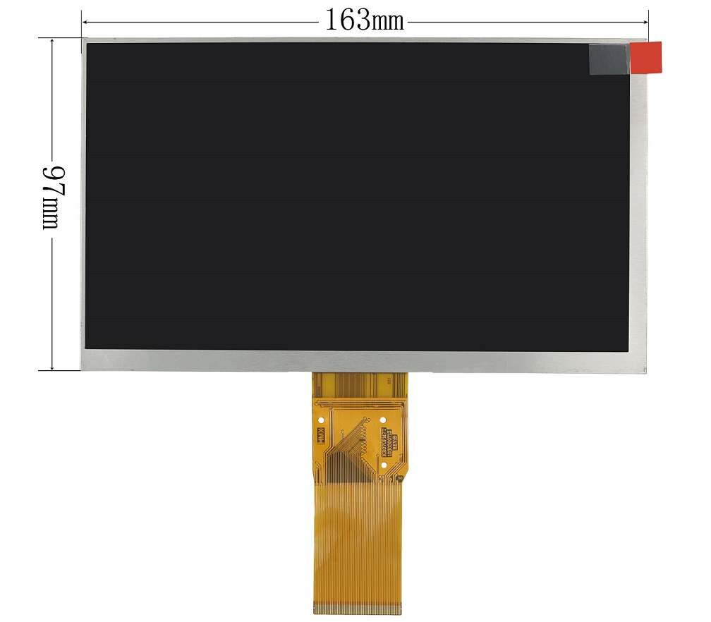 "7"" inch display screen TXDT700CPLA-42 TXDT700CPLA Matrix size:165*105mm Tablet LCD 7 inch 40Pin"