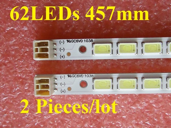LED40K16P SSL400EL01 LED strip 40-D0WN LJ64-02730A KHE-A3P62NB458H REV_0.0 62LEDs 457mm 2 Pieces/lot