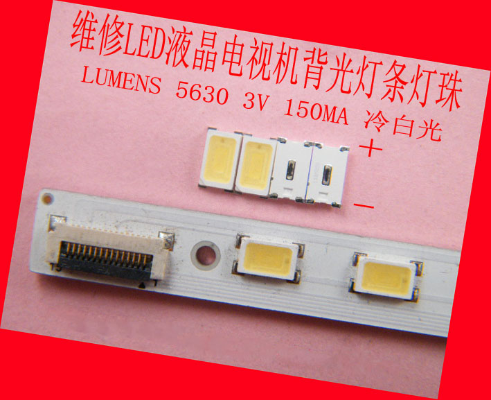 50 Piceces/lot LEDs for LUMENS 5630 3V 150MA,cool white,repair sony Panasonic TV