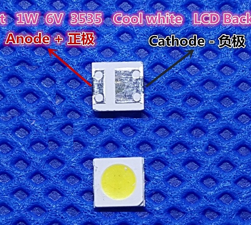 50 PCS LEDs for SHARP backlight 3537 3535 6V 160MA 1W,cold white light GM5F20BH20A