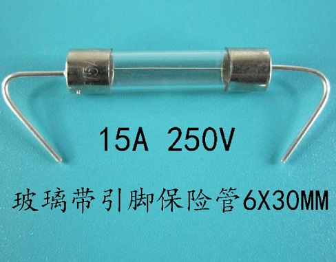 T15A250V 15A 250V glass fuse 6X30mm with Pin