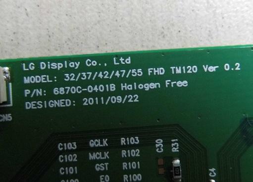 D/'origine T-détenu Board 6870C-0401B 32//37//42//47//55 FHD TM120 testé OK